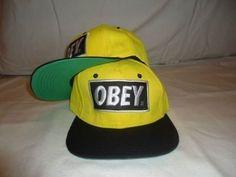 Obey Caps / Hats Snapback (Yellow and Black) by Obey, http://www.amazon.com/dp/B00CMQUCL2/ref=cm_sw_r_pi_dp_eSOXrb034R1BF