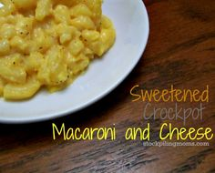 http://www.stockpilingmoms.com/2012/11/sweetened-crockpot-macaroni-and-cheese/ Might try playing around with this recipe and seeing if I can make it not sweet and what cheese to use seeing we have nothing like velvetta
