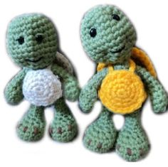 Amigurumi To Go!: Little Bigfoot Turtle Free Crochet Turtle Pattern