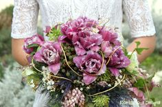 Garden wedding Bouquet featuring feathered tulips  pinterest IMG_6771