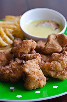 chickfila nuggets- these were good...notes, make bigger chunks, added pickle juice counteracted the sweetness of the sugar. Took a long time to cook all the pieces, use a fryer next time, maybe peanut oil. cut recipe in half unless a big family, took a long time to finish them all.