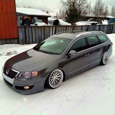 #Volkswagen #R36_Wagon #Modified #Slammed #Bagged #Stance