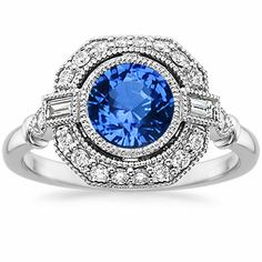 18K White Gold Sapphire Ostara Diamond Ring (1/4 ct. tw.) from Brilliant Earth