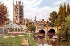 Postcards of the Past - Vintage Postcards of Magdalen College Oxford
