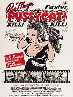 Faster, Pussycat! Kill! Kill! (1965) Russ Meyer (French Film Poster)