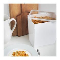 "TILLSLUTA Dry food jar with lid - 9x6x9 "" - IKEA"
