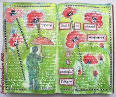Art - Journal - Journey: SOMMER (Juli-Thema) /summer (theme in july)