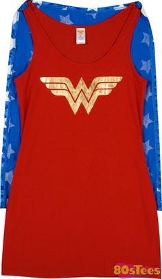 Wonder Woman Caped Sleep Tank