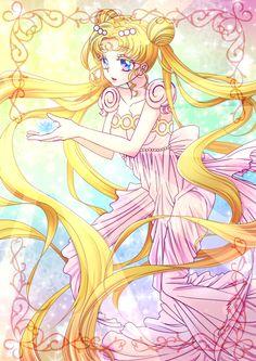 Sailor Moon + the silver crystal Sailor Moom, Arte Sailor Moon, Sailor Moon Usagi, Sailor Moon Wedding, Princesa Serenity, Neo Queen Serenity, Sailor Moon Aesthetic, Sailor Moon Wallpaper, Moon Princess
