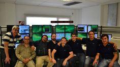 El grupo de argentinos de la estación terrena que se encuentra en Malargüe.