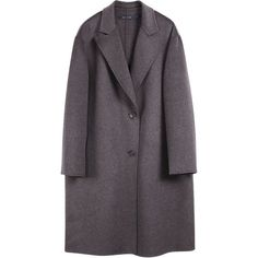 Sofie D'Hoore Cashmere Coat Ciudad (€1.800) ❤ liked on Polyvore featuring outerwear, coats, jackets, coats & jackets, antracite melange, wool cashmere coat, oversized coat, short coat, cashmere coats and clear coat