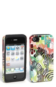 "My ""Mind-Reading Zebras"" painting on an iPhone case at Nordstrom!! (case in collaboration with Case-Mate)"