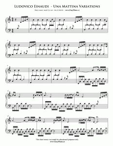 """Full version of the Ludovico Einaudi's extended Una Mattina theme (""""Una Mattina Variations"""") from The Intouchables soundtrack This full version is not included in the official Una Mattina sheet music album The Intouchables, Irish Folk Songs, Smoke On The Water, Song Of The Sea, Easy Piano, Piano Sheet Music, Music Albums, Silent Night, Coldplay"""