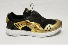 Puma Future disc Blaze Opulence Metallic Gold Black Mens Size EUR 47  US 13 #PUMA #AthleticSneakers Metallic Gold, Black Gold, Pumas, Trinidad And Tobago, Sneakers Fashion, Men's Shoes, Athletic Shoes, Adidas Sneakers, Future