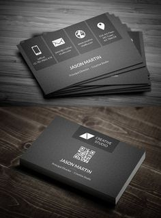 Metro Dark Corporate Business Card #UniqueBusinessCards