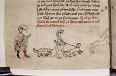 Taking the medieval dog out for a walk.     (Via @Sarah_Peverley)