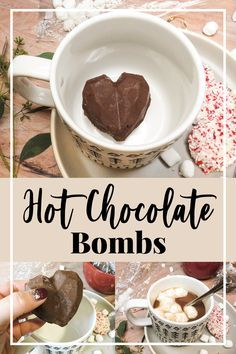 Hot Chocolate Gifts, Christmas Hot Chocolate, Chocolate Diy, Homemade Hot Chocolate, Hot Chocolate Bars, Hot Chocolate Mix, Hot Chocolate Recipes, Chocolate Treats, Valentine Chocolate