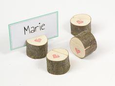 Hochzeitsdeko - 1 Tischkartenhalter / Kartenhalter - Hochzeit - ein Designerstück von Ringelspatz bei DaWanda