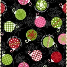 Christmas Fabric/Winter Holiday Sewing Material by ChristmasJul Cut Sweatshirts, Sewing Material, Cotton Quilting Fabric, Christmas Fabric, Christmas 2015, Pink Polka Dots, Merry And Bright, Winter Holidays, Black Fabric