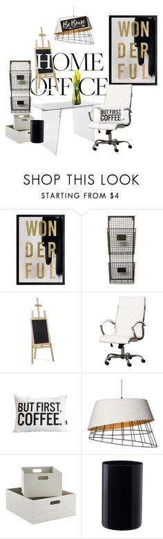 """""""Be brave,Be bold, Be Happy"""" by zappa ❤ liked on Polyvore featuring interior, interiors, interior design, home, home decor, interior decorating, Oliver Gal Artist Co., LumiSource, EASEL and LSA International"""