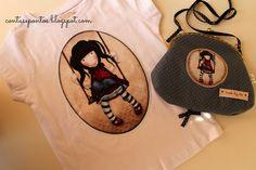 Conjunto de t-shirt e mala - Gorjuss Girls