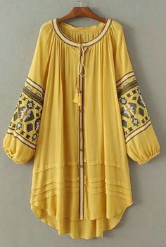 Jastie Vintage Embroidery Boho Dress Plus Size Women Dresses Lantern Sleeve Loose Beach Mini Dress Chic Casual Feminino Vestidos Stylish Dresses For Girls, Stylish Dress Designs, Designs For Dresses, Kurta Designs, Blouse Designs, Cl Fashion, Hijab Fashion, Fashion Dresses, Pakistani Dresses Casual