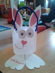 Easter basket 2013/bunny/milk carton