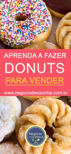 Learn now how to make donuts to sell! These donuts are making a big hit here and there are already a Yeast Donuts, Doughnuts, Donut Cupcakes, Canned Biscuits, Homemade Donuts, Donut Recipes, Coffee Break, Food Truck, Bakery