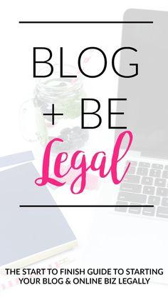 When it comes to your blog you've thought about it ALL, right? But wait... What about taxes? ... Should you copyright your images? ... Do you need to register for a trademark? ... What if someone starts stealing your work? ... Do you need to include your