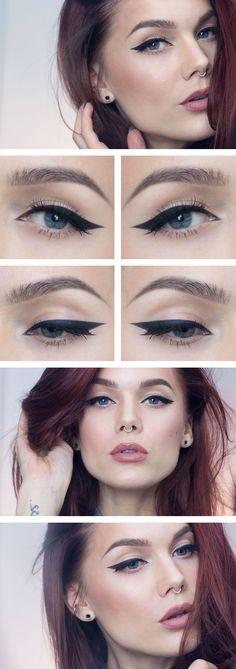 Detta är definitivt en favoritlook just nu  Jag har använt/I've used MUS Cake eyeliner black MUS MS Desert... #perfectwingedliner
