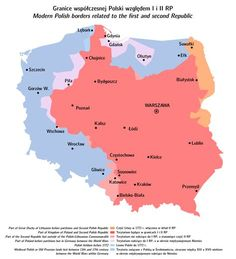 Polska_dzis_a_kiedys. Poland Map, Alternate History, Geography, Culture, Alternative, Maps, Polish Language, Poland, Cards