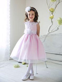 4a10f283f5136 Pink Organza Crochet Lace Adorned Neckline Flower Girl Dresses (Sizes In.  Joan Ziegler · Little Princess