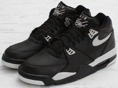 The classic, Air Flight 89 has just dropped in a leather built black and cool grey colorway. Find the sneakers now at shops that include Concepts. Bo Jackson Sneakers, Nike Presents, Jordan 4 Black, Nike Shoes, Shoes Sneakers, Nike Air Flight, Jordans For Men, Air Jordans, Sneaker Magazine