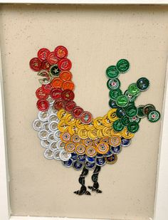 Diy Bottle Cap Crafts 862228291143292270 - Bottle cap art – chicken by Alison Tudor Bottle cap art – chicken by Alison Tudor Source by Bottle Top Art, Bottle Top Crafts, Bottle Cap Projects, Diy Bottle, Plastic Bottle Caps, Beer Bottle Caps, Beer Cap Crafts, Beer Cap Art, Aluminum Can Crafts