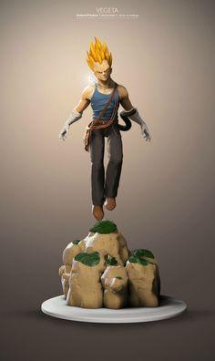Les plus beaux fan arts 3D de Dragon Ball - Umberto d'Andrea