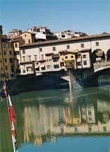 Ponte Vecchio over the River Arno. Charley visits for commerce, cache, curiosity and coming clean. Over The River, Arno, Time Out, Curiosity, Book Series, Time Travel, Adventure Travel, Movie, History