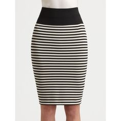 Akris Punto Striped Jersey Skirt ($395) ❤ liked on Polyvore