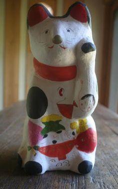 八郷の日々: み太郎窯の招き猫
