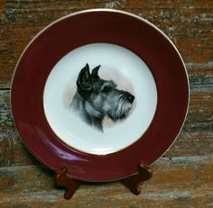 Vintage Wood And Sons Scottish Terrier Collector Plate, Ironstone Collector Plate, Dog Collectible, Scottish Terrier Collectible by EmptyNestVintage on Etsy