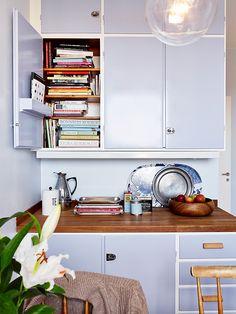 kitchen. (Fin farge på gammelt kjøkken!)
