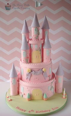 Pink Princess Castle Cake - ashley wants this for her birthday - I'm flattered she thinks I could but err help lol