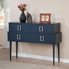 Empire Navy 4-drawer Buffet