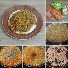 #Quinoa- Pfanne mit #Möhre, #Lauch und #Schinken. #Tomatenmark #Karotte #carrot #ham #onions #tomato Imitated? -> please link me and turn on notification.⬆ #stepbystep #stepbystepcooking #lowcarbrecipes #lowcarbrezept #food #recipes #lowcarb #lowcarbfood #lowcarblife #lchp #lchf #instadaily #foodporn #instafood #fitfam #healthy #mecfs #mecfsgermany #mecfsdeutschland #cfsme