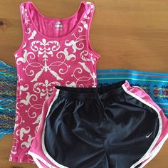 Nike Run Outfit Sz Small Cotton Top and coordinating sz Small run shorts both by Nike in excellent condition---NO TRADES!!! Nike Other