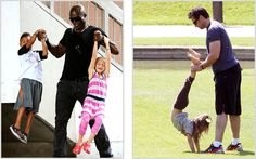 Celebrity Fathers: Seal and Hugh Jackman