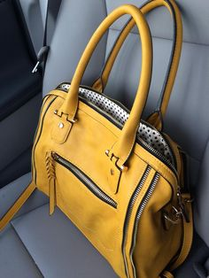 This is my FAVORITE color of this satchel!! Stitch Fix Stylist: I would LOVE to get this Urban Expressions Elisha Zipper Accent Structured Satchel in MUSTARD color!!