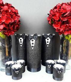 Affordable men's Vase set Baptism Centerpieces, Birthday Party Centerpieces, Vase Centerpieces, 50th Birthday Party, Man Birthday, Birthday Ideas, Baby Shower Buffet, Baby Shower Candy, Birthday Decorations For Men