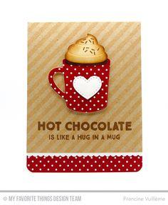 Hug In a Mug, Hot Cocoa Cups Die-namics, Stitched Circle ...