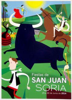 El cartel número 64 con el lema 'Ve a vivirlas', de Cristobal Aguiló, anunciará las Fiestas de San Juan 2014.