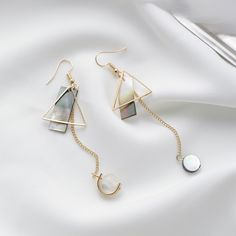Cheap fashion long earrings, Buy Quality long earrings directly from China long earings fashion Suppliers: 2017 Fashion Simple Delicate Long Earrings Asymmetric Shell Butterfly Boucle d'oreille Femme Pendante Ear Jewelry, Cute Jewelry, Jewelery, Jewelry Accessories, Fashion Accessories, Jewelry Necklaces, Jewelry Design, Women Jewelry, Fashion Jewelry